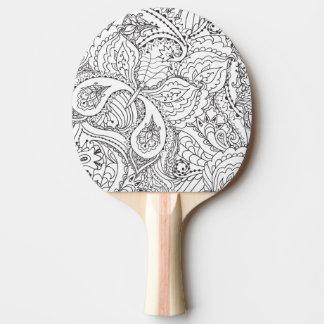 Raquete Para Tênis De Mesa Borboleta floral decorativa - o múltiplo colore o