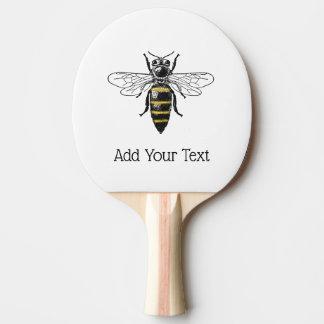 Raquete Para Tênis De Mesa Brasão heráldica formal C da abelha #2 do vintage