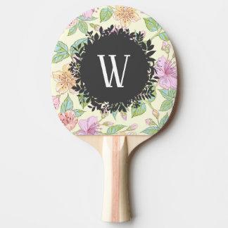 Raquete Para Tênis De Mesa Delicado doce flores coloridas do primavera com