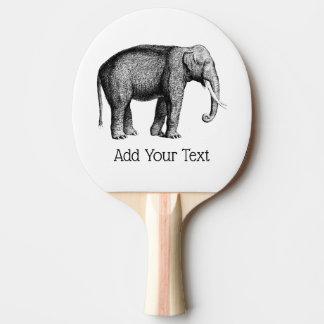 Raquete Para Tênis De Mesa Desenho do elefante do vintage
