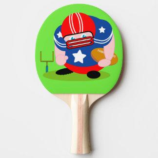 Raquete Para Tênis De Mesa Design patriótico adorável do jogador de futebol