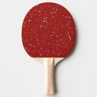 Raquete Para Tênis De Mesa Estrelas do brilho - vermelho de prata