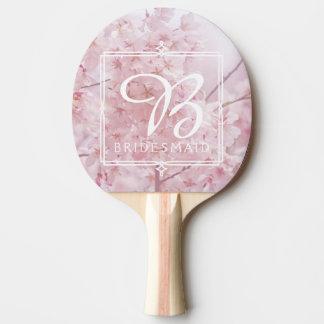 Raquete Para Tênis De Mesa Flores de cerejeira rosas pálido da dama de honra