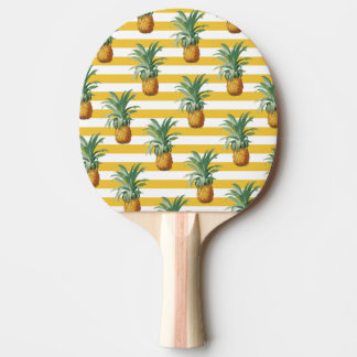 Raquete Para Tênis De Mesa listras amarelas dos pinepples