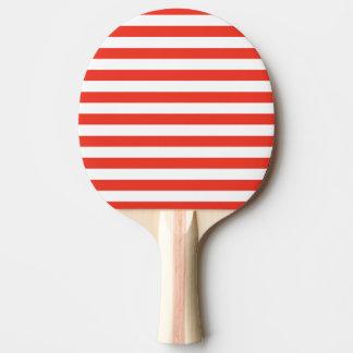 Raquete Para Tênis De Mesa Listras vermelhas horizontais