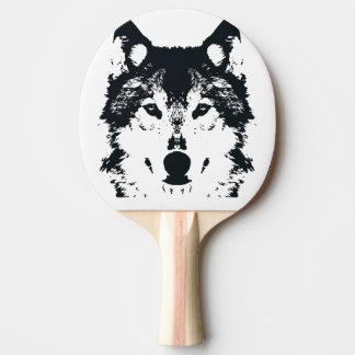 Raquete Para Tênis De Mesa Lobo preto da ilustração