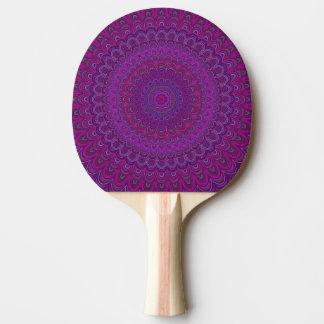 Raquete Para Tênis De Mesa Mandala roxa da flor