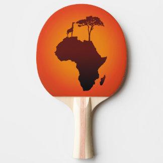 Raquete Para Tênis De Mesa Mapa africano do safari - pá de Pong do sibilo