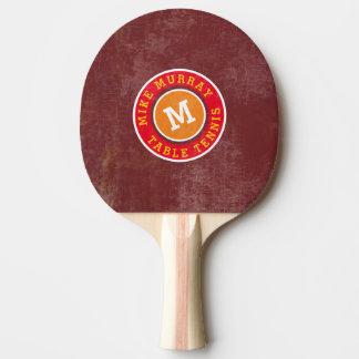 Raquete Para Tênis De Mesa monograma à moda do logotipo do círculo no