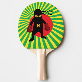 Raquete Para Tênis De Mesa Monograma. Kawaii Ninja bonito para o Geek. do