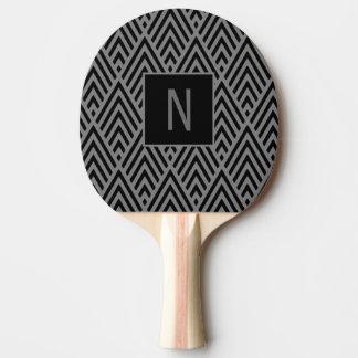 Raquete Para Tênis De Mesa Pá cinzenta do monograma da seta