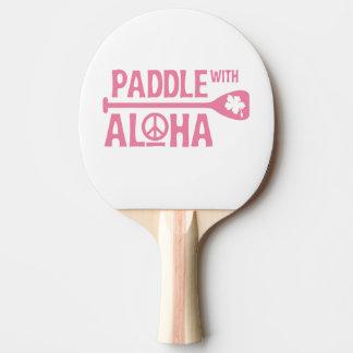 Raquete Para Tênis De Mesa Pá com Aloha - pá de Pong do sibilo - o hibiscus