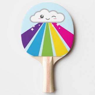 Raquete Para Tênis De Mesa Pá de Pong do sibilo da nuvem e do arco-íris de