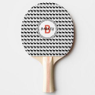 Raquete Para Tênis De Mesa Pá de Pong do sibilo, parte traseira vermelha da