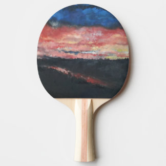 Raquete Para Tênis De Mesa Pá do ténis de mesa do por do sol 1
