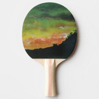 Raquete Para Tênis De Mesa Pá do ténis de mesa do por do sol 2