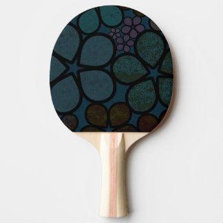 Raquete Para Tênis De Mesa Pá floral escura Textured moderna de Pong do