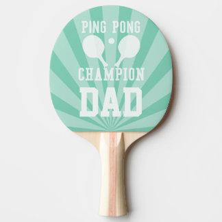 Raquete Para Tênis De Mesa Pá verde do campeão de Pong do sibilo do pai