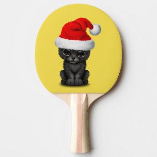 Raquete Para Tênis De Mesa Pantera preta bonito Cub que veste um chapéu do