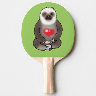 Raquete Para Tênis De Mesa preguiça bonito com coração vermelho