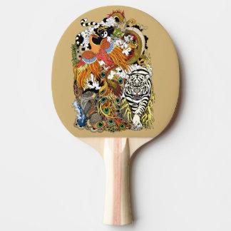 Raquete Para Tênis De Mesa quatro animais celestiais