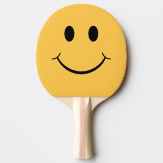 Raquete Para Tênis De Mesa Raquete de ténis de mesa engraçada do smiley face