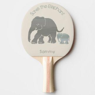 Raquete Para Tênis De Mesa Seus elefantes bonitos do slogan do nome e do