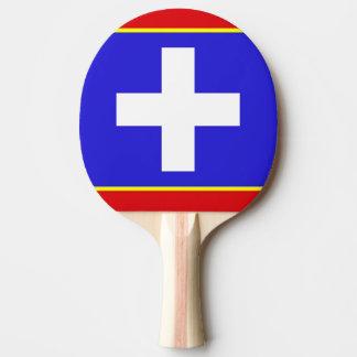 Raquete Para Tênis De Mesa símbolo central da região do país da bandeira da