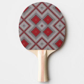 Raquete Para Tênis De Mesa Teste padrão abstrato geométrico vermelho e