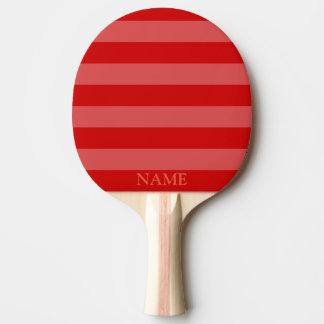 Raquete Para Tênis De Mesa Teste padrão cinzento vermelho da listra da pá de