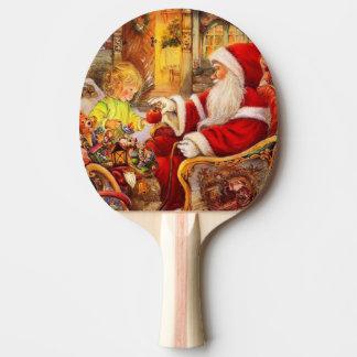 Raquete Para Tênis De Mesa Trenó do papai noel - ilustração de Papai Noel