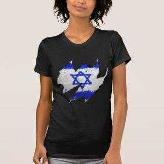 Rasgo dos grafites da bandeira de Israel Camiseta