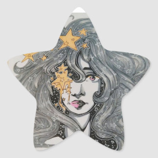 Rasgos da estrela adesivo estrela