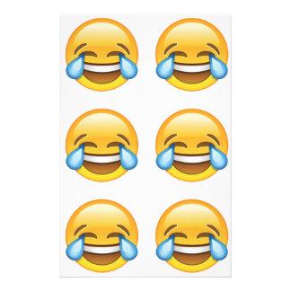 Rasgos de grito de riso do emoji da alegria papelaria