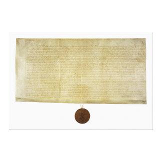 Ratificação de New York da Declaração de Direitos Impressão Em Tela