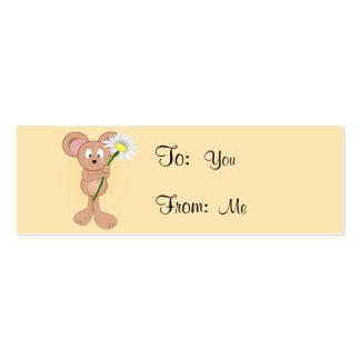 Rato adorável dos desenhos animados que guardara a cartão de visita skinny