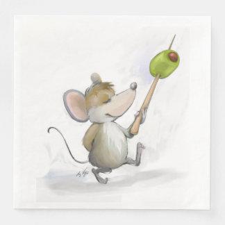 Rato alegre Moe com o guardanapo de papel
