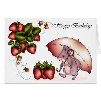Rato bonito do cartão de aniversário da amizade co