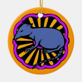 Rato chinês do zodíaco do aniversário do ornamento