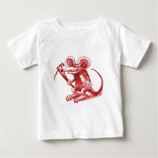 rato com prancha dura camiseta para bebê