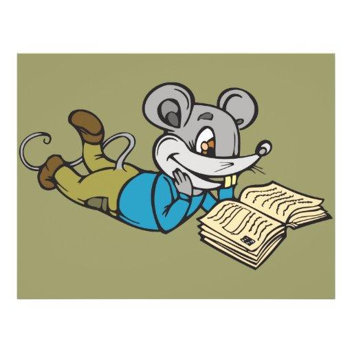 Rato da leitura panfleto coloridos
