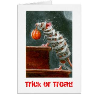 Rato da mamã, doçura ou travessura! Cartão do Dia