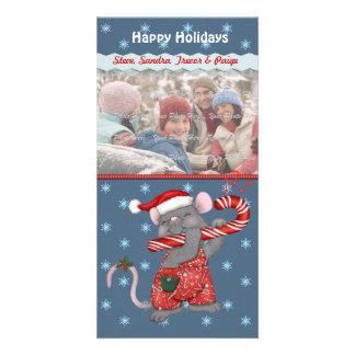 Rato da música do Natal Cartões Com Foto