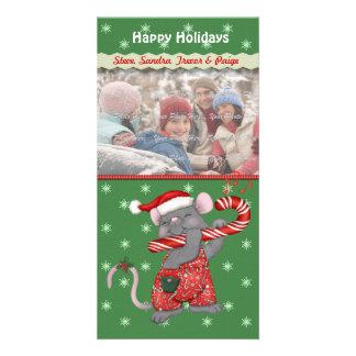 Rato da música do Natal Cartão Com Foto