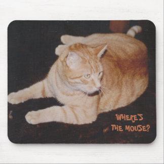 Rato de espera Mousepad do gato de tigre