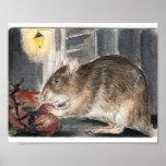 Rato de Whitechapel com uvas Impressão