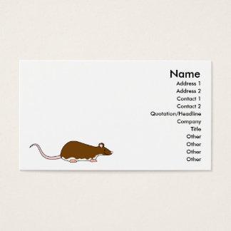 Rato do animal de estimação de Brown. Berkshire, Cartão De Visitas