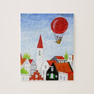 Rato do balão & quebra-cabeça dos telhados