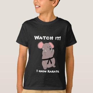 Rato do karaté camiseta