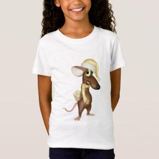 Rato do Natal no amarelo Camiseta